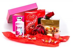 Valentine's Day Gift Bundle Lindt and Russell Stover Chocolate, Candles, Bath and Body Wor ...