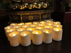 Flameless LED Tea Light Candles, Magicpro Battery-powered Unscented LED Tealight Candles, Fake C ...