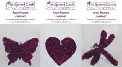 3Pack Cabernet Scented Air Fresheners in Butterfly, Heart, Dragonfly by The Scented Castle