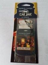 Yankee Candle Classic Car Jar Hanging Air Freshener Crisp Fall Night (Pack of 3)