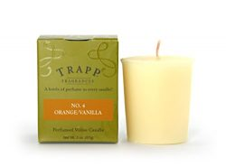 Trapp Signature Home Collection No. 4 Orange/Vanilla Votive Scented Candle, Pack of 4