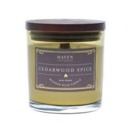 Haven Street Candle Co. Richly Scented Double Wick Candle Cedarwood Spice