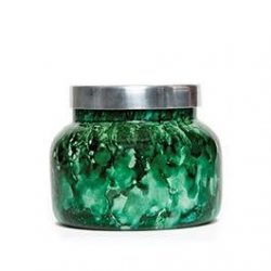 Capri Blue 19 oz. Watercolor Collection Jar Candle-Green-cactus flower