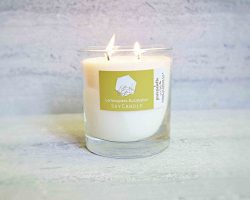 Lemongrass Eucalyptus Spa Soy Candle in Whisky Glass Jar and Steady Kraft Gift Box Handmade in V ...