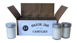 Set of 12 Bulk Wholesale Mason Jar Candles – 8 Ounce – Perfect For Weddings, Restaur ...
