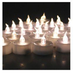 AGPtek Lot 100 Battery Operated LED Warm White Tea Light Candle Flickering Flashing For Wedding  ...