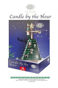 Candle By the Hour 40 Hour Christmas Tree Candle with Charms