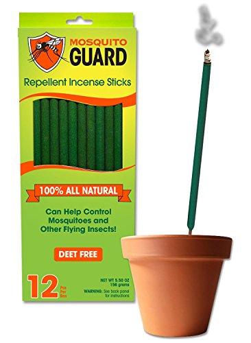 Mosquito Guard Incense Repellent Sticks – 100% All Natural Insect Repellent Incense Sticks ̵ ...