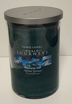 Yankee Candle World Journeys 20 oz Large Holiday Tumbler Candle ALPINE SPRUCE with pure Natural  ...