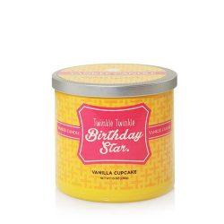 Yankee Candle Twinkle Twinkle Birthday Star. (Vanilla Cupcake) Medium 2-Wick Tumbler Candle, Foo ...