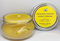 Lemon Verbena Beeswax Candle – Pure Organic Beeswax – Essential Oil Candle – H ...