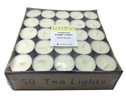 Littras 8-9 Hours Prime Quality Vegetable Palm Oil Wax White Unscented Tealight Candles-Each 27G ...