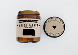 South Dakota Scented Candle Missing Home Homesick Gift Moving Gift New Home Gift No Place Like H ...