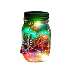 Outdoor Decor Color Changing Led Solar Mason Jar Lights(1 pc), Starry Fairy String Lights Insert ...