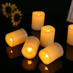 Flameless Tealights Votive Candle LED Realistic Flickering Flameless Candle Battery Operated Vot ...