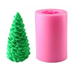 3D Christmas Tree Candle Mold – MoldFun Christmas Party Silicone Mold for Fondant, Fimo Cl ...