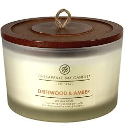 Chesapeake Bay Candle Heritage Collection Coffee Table Jar Scented Candle, Driftwood & Amber