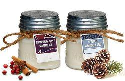 Aira Soy Candles – Organic, Kosher, Vegan in Mason Jar w/ Therapeutic Grade Essential Oils ...
