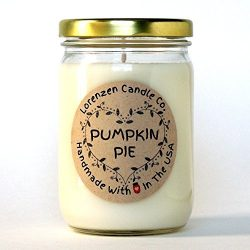 Pumpkin Pie Soy Candle, 12oz | Handmade in the USA with 100% Soy Wax