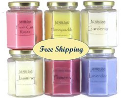SPRING FRAGRANCE CANDLE PACK – Fresh Cut Roses, Gardenia, Honeysuckle, Jasmine, Lavender & ...