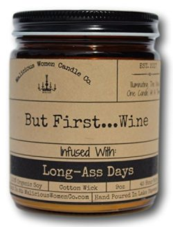 Malicious Women Candle Co – But First…Wine, Cabernet All Day (Sweet Red Wine) Infused with ...