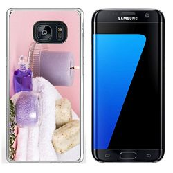 Luxlady Samsung Galaxy S7 Edge Clear case Soft TPU Rubber Silicone IMAGE ID Spa set aroma candle ...