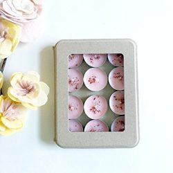 Kaya 12 Garden Rose Scented Tea Light Candles | Vegan | Hand poured Soy wax candles | Eco Friend ...