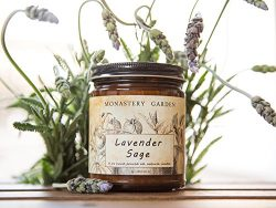 Scented Soy Candle – LAVENDER SAGE – Natural Organic Vegan Soy Aromatherapy Candle,  ...