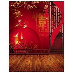 TOOGOO(R) 3x5ft Vinyl Red Chinese Lunar New Year Spring Festival Theme Party Wall Decorations Mu ...
