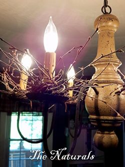 The Naturals 6- 3″ Primitive Chandelier Candle Rings Gift Package Toppers Napkin Rings