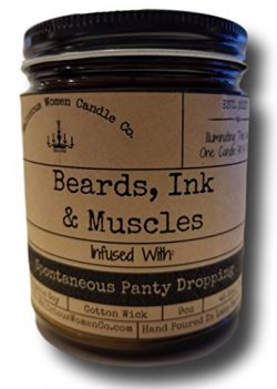 Malicious Women Candle Co – Beards, Ink & Muscles, Spiced Mahogany (Spicy Wood & B ...