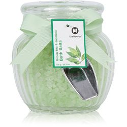 Natural Bath Salts by Eve Hansen in Green Tea and Jasmine Scent. Large 25 Ounce Glass Jar. Skin  ...