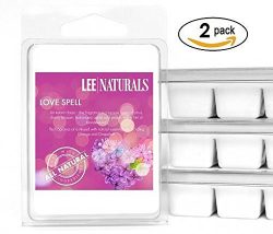 Lee Naturals Classics – (2 Pack) LOVE SPELL Premium All Natural 6-Piece Soy Wax Melts. Han ...