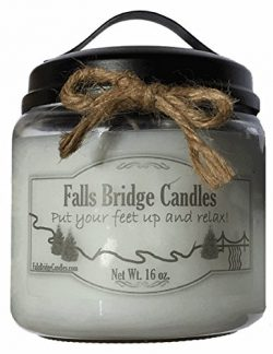 Butterscotch Pudding, 16 oz. Scented Jar Candle, Falls Bridge Candles