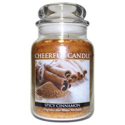 A Cheerful Giver Spicy Cinnamon Jar Candles, 24 oz