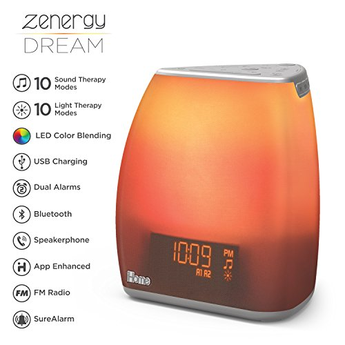 Better Sleep White Noise Sound Machine For Adults And: IHome Zenergy Bedside Sleep Therapy Machine Sleep Better
