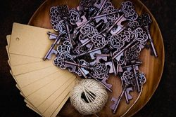 Wedding Favors for Guests Party Favors Rustic Vintage Key Bottle Opener with Escort Card Tag and ...