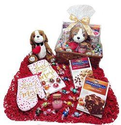 Kitchen & Baking Deluxe Valentines Day Gift Basket – Lindt Lindor Truffles Chocolate C ...
