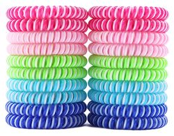 [NEW 2018] Kids Mosquito Repellent Bracelets (20 Pack) Bug & Insect Repellent Bands, More Po ...