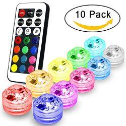 AYG Flameless LED Tea Lights Candles,Multi Color Option Battery-Powered,Multi Color Bulb Light w ...