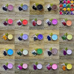 24 Dye Colors for 280-500 lb of Wax- Colors for Aromatherapy Scented Candles Coloring, DIY Natur ...
