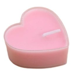 Hosaire Candles 9 Pcs Smokeless Heart Shaped Romantic Love Candle Bulk for Wedding,Birthday,Part ...