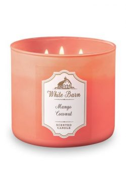 Bath and Body Works 3 Wick Scented Candle Mango Coconut 14.5 Ounce