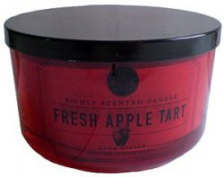 Decoware Fresh Apple Tart 3-Wick Candle 14.63 Oz. In Glass