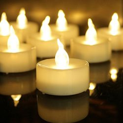 Flameless Candles Battery Operated Candles Unscented Small Min Led Tea Lights Candles for Weddin ...