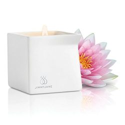 New Afterglow Natural Massage Oil Candle – Pink Lotus Aromatherapy – Multi-Use For S ...