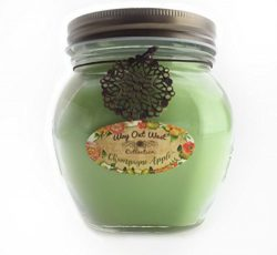 Scented Jar Candle Champagne Apple – 17 Oz Long Lasting Soy Blend – Made in USA by W ...