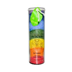 Aloha Bay Unscented Chakra Jar Rainbow Sri Yantra 7 Color – 1 Candle