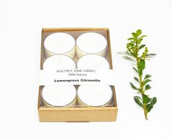 Lemongrass Citronella Bug-Free Zone 100% Natural Mosquitoes Repellent Outdoor Soy Candle Tea Lig ...