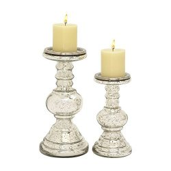 Lovely Classy And Romantic Enticing (Set Of 2) Glass Candle Holder – Perfect For Beautiful ...